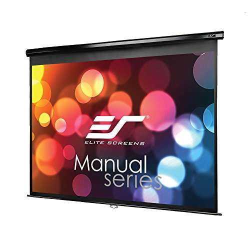 Elite Screens Manual, 100-inch 4:3, Pull Down Projection Manual Projector Screen with Auto Lock, M100UWV1 by Elite Screens