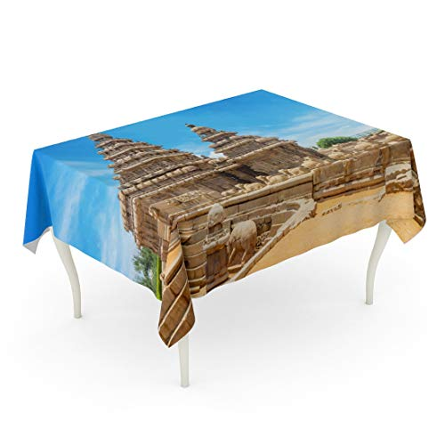 - Tarolo Rectangle Tablecloth 60 x 90 Inch Mamallapuram Shore Temple Popular Tourist Destination and UNESCO World Heritage at Mahabalipuram Tamil Nadu India Indian Table Cloth