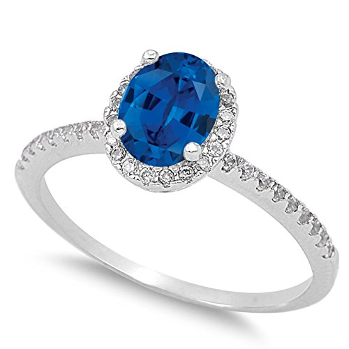 oval sapphire ring - 3