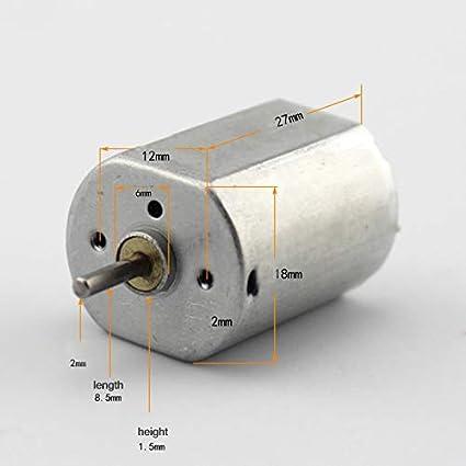 Amazon com: Xia Fly 1pc DC3-6V 9000-17000 RPM 150 Mini DC Motor Low