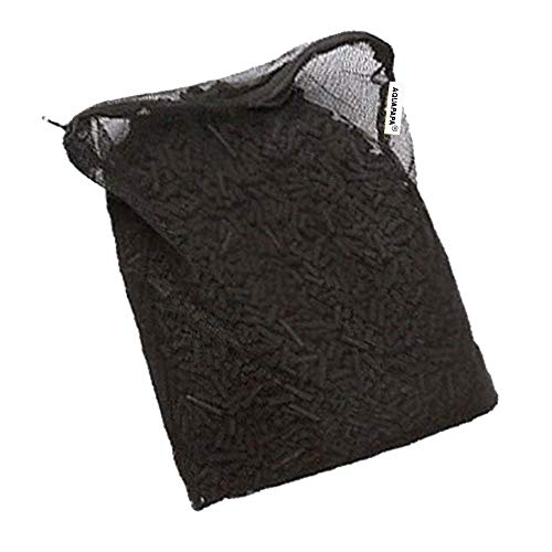 Aquapapa 5 lbs Activated Charcoal Carbon Pellets in 1 Free Mesh Media Bags for Aquarium Fish Pond Tank Canister - Small Pellet Bag