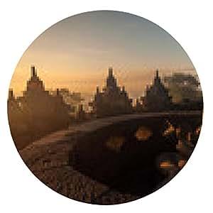 alfombrilla de ratón templo de Borobudur - ronda - 20cm