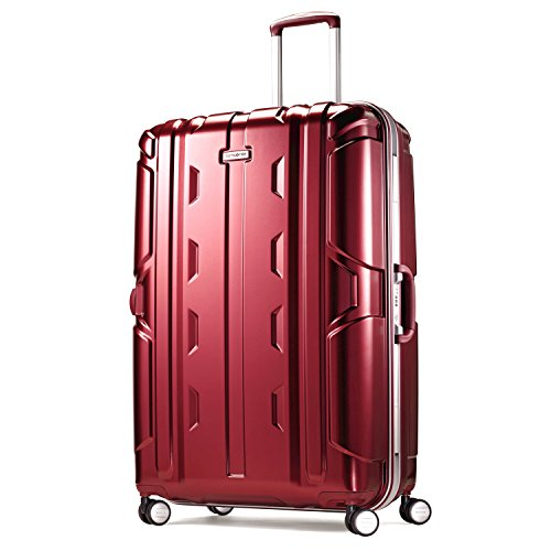 Samsonite Cruisair DLX Hardside Spinner 30, Burgundy, One Size Samsonite Aluminum Locks
