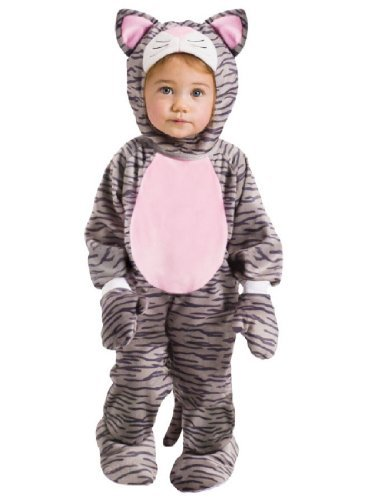 Fun World Grey Stripe Kitten Infant Costume, Small, 6-12 Month.]()