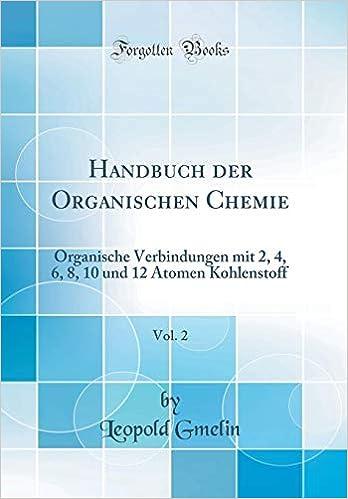 Handbuch Der Organischen Chemie Vol 2 Organische
