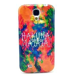 DUR Hakuna Matata Fire Cloud Pattern TPU Soft Case for Samsung Galaxy S4 I9500