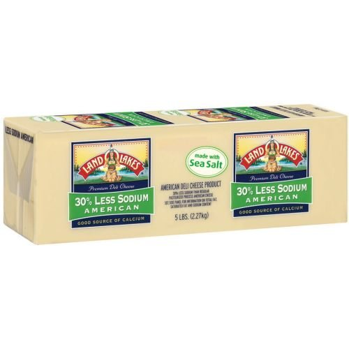 Land O Lakes Deli White American Cheese Loaf, 5 Pound -- 2 per case. by Land O Lakes
