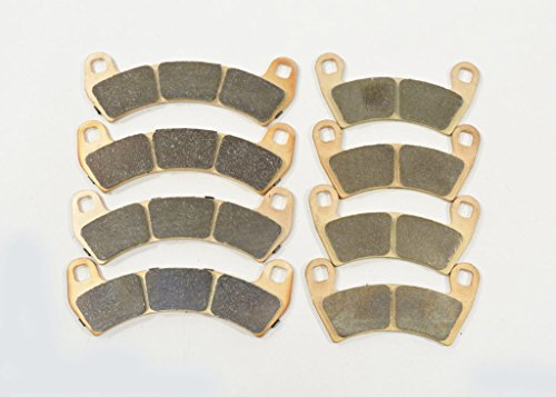 (Race Driven Front and Rear Sintered Metal Severe Duty Brake Pads for Polaris 1000 RZR XP Turbo EPS 4)
