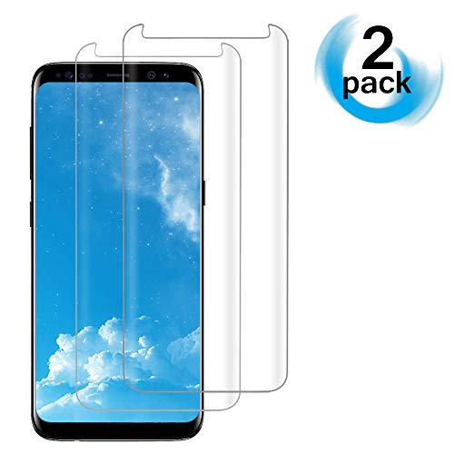 [2PACK]Galaxy S8 Clear Screen Protector,[Case Friendly][Anti-Fingerprint] Tempered Glass Screen Protector for Samsung Galaxy S8 by Acedining