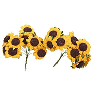 100pcs Artificial Flower Sunflower Bouquet for Home Wedding Decoration 5