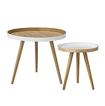 bloomingville bout de canap bois blanc design - Bout De Canape Bois