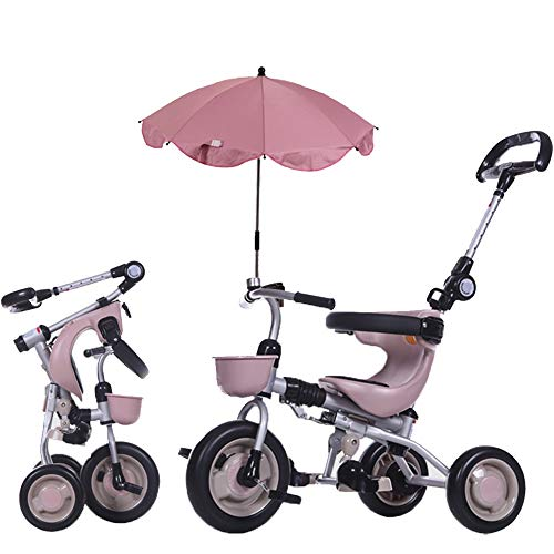 (YUMEIGE Kids' Tricycles Kids Tricycle with Parasols 1-6 Years Old Birthday Gift Kids Strollers Toddler Trike Load Weight 25 Kg (Boy/Girl) Available (Color : Pink))