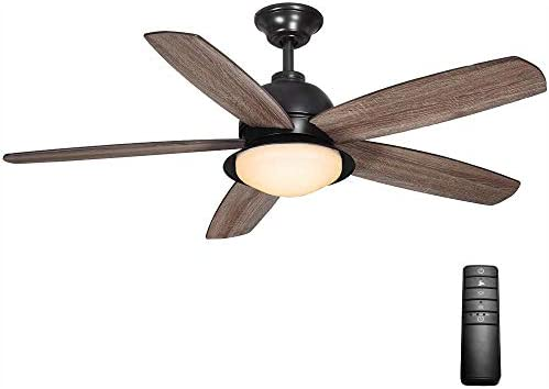 Home Decorators Collection Ackerly 52 in. LED Indoor/Outdoor Natural Iron Ceiling Fan