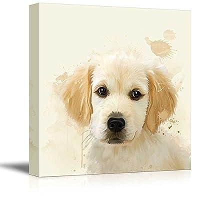 Square Dog Series Watercolor Style Golden Retriever