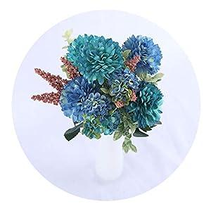 Hydrangea Silk Flower Ball White Dandelion Artificial Flowers Birthday Home Wedding Decoration Accessories Fake Flowers Bouquet,Blue Flowers 52