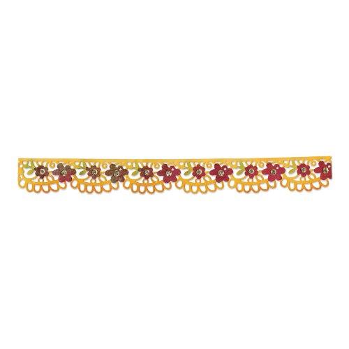 Sizzix Sizzlits Decorative Strip Die By BasicGrey-Flower Garden 12.625