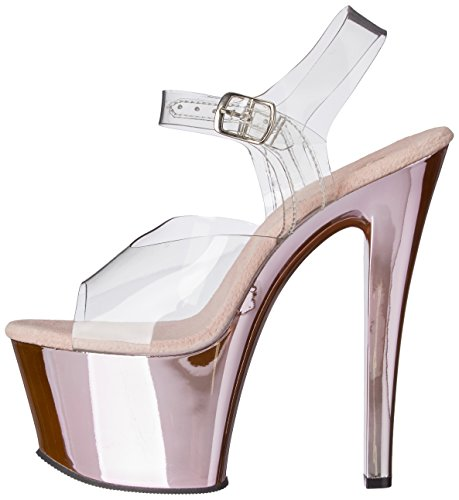 Mujer clr Sandalias c b hpch Chrome Pink Transparente Pleasersky308 4qOtxw