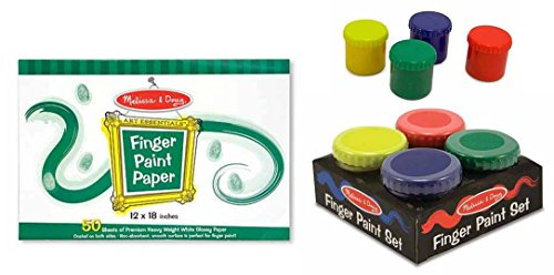 ger Paint Paper (50 sheets) and Finger Paint Set (4 colors) (Doug Finger Paint)