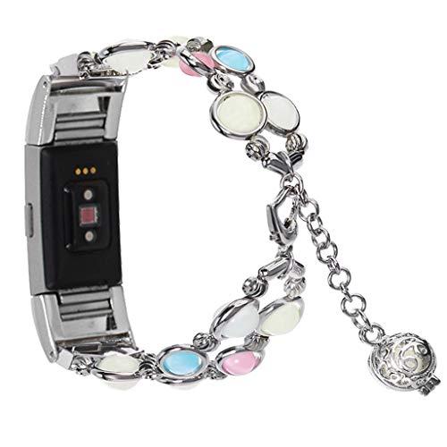 Kariwell Adjustable Wristband Handmade Night Luminous Band for Fitbit Charge 2 Watch Kari-72 -
