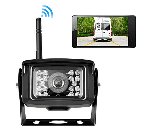 Wireless Backup Camera for Truck,RV,Camper,Trailer. WiFi Backup Camera Work with iPhone, ipad or Andriod Devices