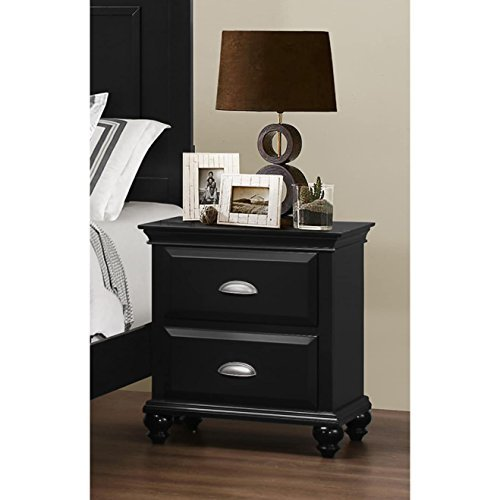 Simmons Upholstry Nantucket Nightstand, Black by Simmons Upholstry