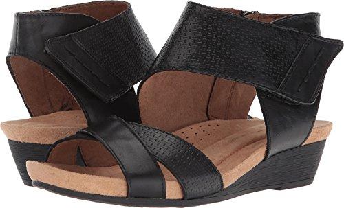 6c531df48c Rockport Women's Sable 2 Piece Cuff Sandal, Black Leather, 9 M - Import It  All