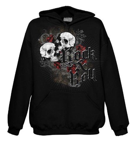 Noir Rock Skulls Hood Style And Roses 701719 Y4CBw64qx