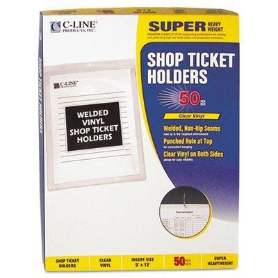Vinyl Shop Ticket Holder, Both Sides Clear, 9 x 12, 50/BX, Sold as 1 Box, 50 Each per Box