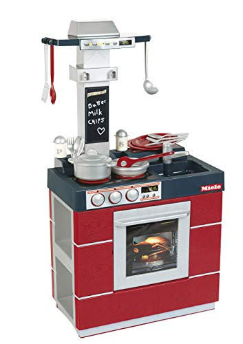 Theo Klein-9044 Miele Cocina Kompakt Con Numerosos Accesorios, Juguete, multicolor, Miscelanea (9044)