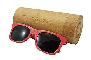 Skateboard Wooden Sunglasses, Wood Sun Glasses with Polarized Lenses, Wayfarer