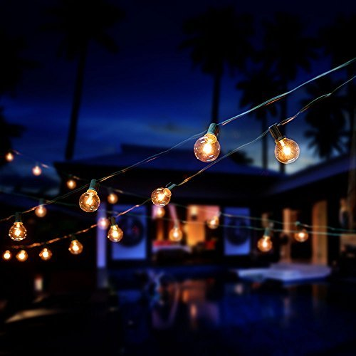 Led Globe String Lights, AGPtEK® Round Linkable Fairy Ball Lights for Wedding/Party/ Garden/Home/Indoor/ Outdoor/ Bedroom Decorative - Warm White 50 Bulbs 50ft (Yellow) by AGPtEK