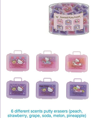 Sanrio Scented Putty Erasers in Case Carousel (You only get ONE randomly chosen) (Putty Eraser)
