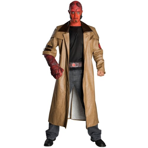 amazoncom deluxe hellboy costume standard chest size 44 clothing