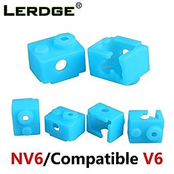 Amazon.com: Piezas de impresora 3D V6 de silicona calcetín ...