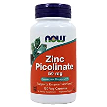 ZINC PICOLINATE 50MG 120 CAPS by Now