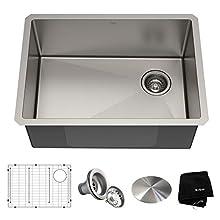Kraus KHU111-25 Standart PRO Kitchen Stainless Steel Sink, 25 Inch