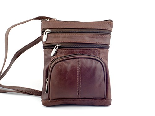 Goson Leather Hand Crafted Leather Small Crossbody Purse Handbag for Women