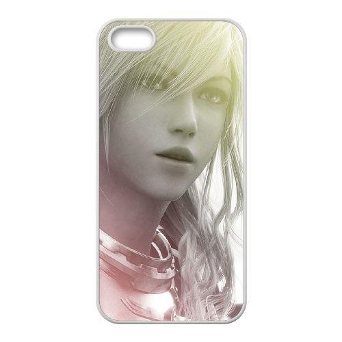 Eclair Farron Final Fantasy 006 coque iPhone 4 4S Housse Blanc téléphone portable couverture de cas coque EOKXLLNCD17811