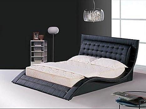 Limitless Base Moderno diseño Italiano Cama King Size tapizada en Piel sintética, 5 m, Tokio Negro: Amazon.es: Hogar