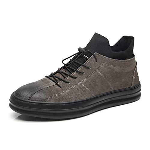 LOVDRAM Stiefel Männer Winter Herren Baumwolle Schuhe Leder Dicke Warme Mode Freizeitschuhe Jugend Student Schuhe