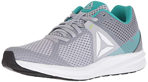 Reebok Women's Endless Road Running Shoe, Grey/Teal/White/Black/neon Lime, 7.5 M US (Best Reebok Running Shoes For Women)