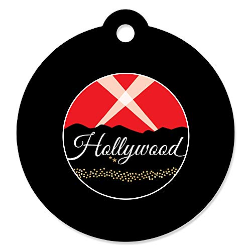 Hollywood Swag Bag (Red Carpet Hollywood - Movie Night Party Favor Gift Tags (Set of)