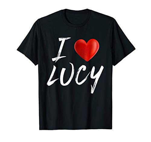 I Love Heart LUCY Family Name T Shirt