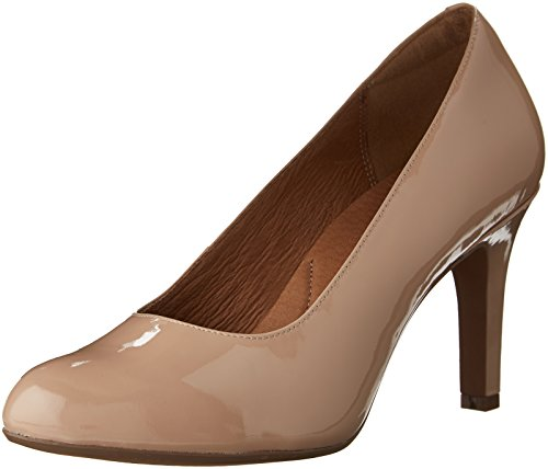 CLARKS Women's Heavenly Star Nude Patent Leather Pump 7 B (M)
