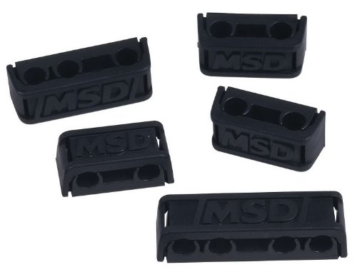 MSD 8843 Pro-Clamp Plug Wire Separator, (Set of 8) (Clamp Wire Loom)