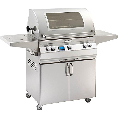 Fire Magic Aurora A660s Propane Gas Bbq Grill With Single Side Burner, One Infrared Burner And Magic View Window On Cart – A660s-5l1p-62-w