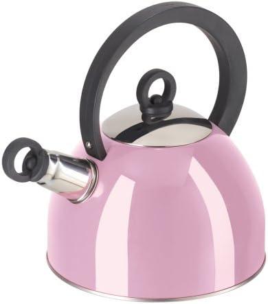 Oggi Stainless Steel PINK Whistling Tea Kettle