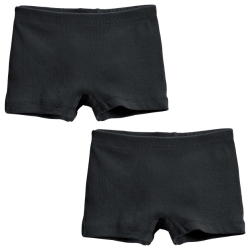 City Threads Girls' 2-Pack BoyShorts Perfect for Sensitive Skin SPD Sensory Friendly Clothing For School Play and Under Dresses Bike and Dance, Fave Black-2T