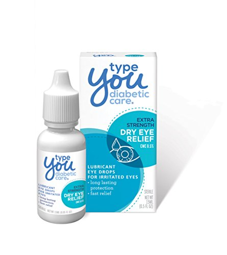 Type You Diabetic Care Eye Drops for Dry Eyes, Dry Eye Relief, Safe for Diabetics, 0.5 Ounce