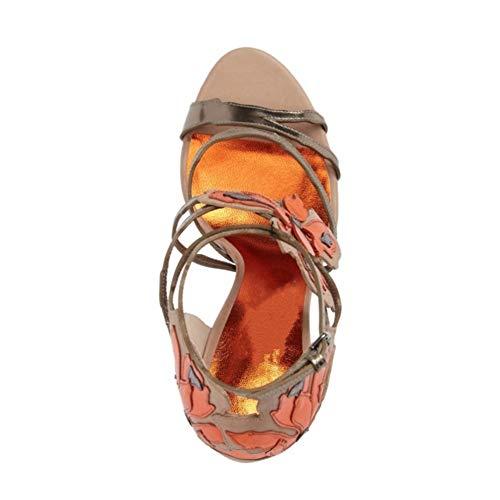 Bande Bout De Talon Bal Femmes Sandales Hauteur Du Bar Régulier Ronde Banquet De Soirée Stilettos Ouvert Chaussures Fleur Robe Mots De Pink 12 Tête Cm 1Ew1OYqF